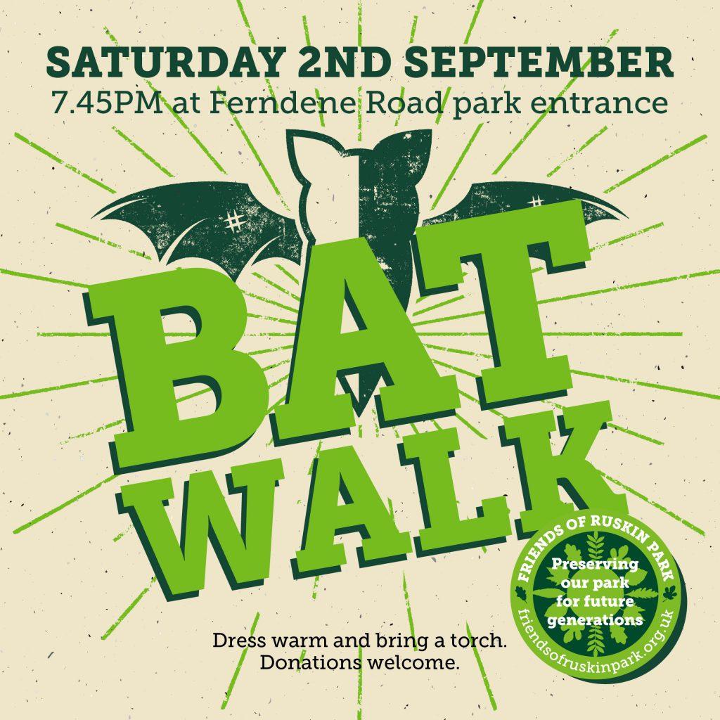 free bat walk in ruskin park