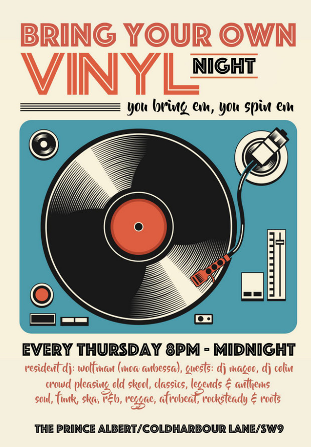 Every Thursday Bring Your Own Vinyl Night At The Prince